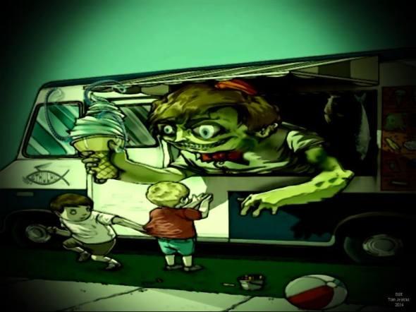 Tom Jenkins Art inspired from The Friendly Horror